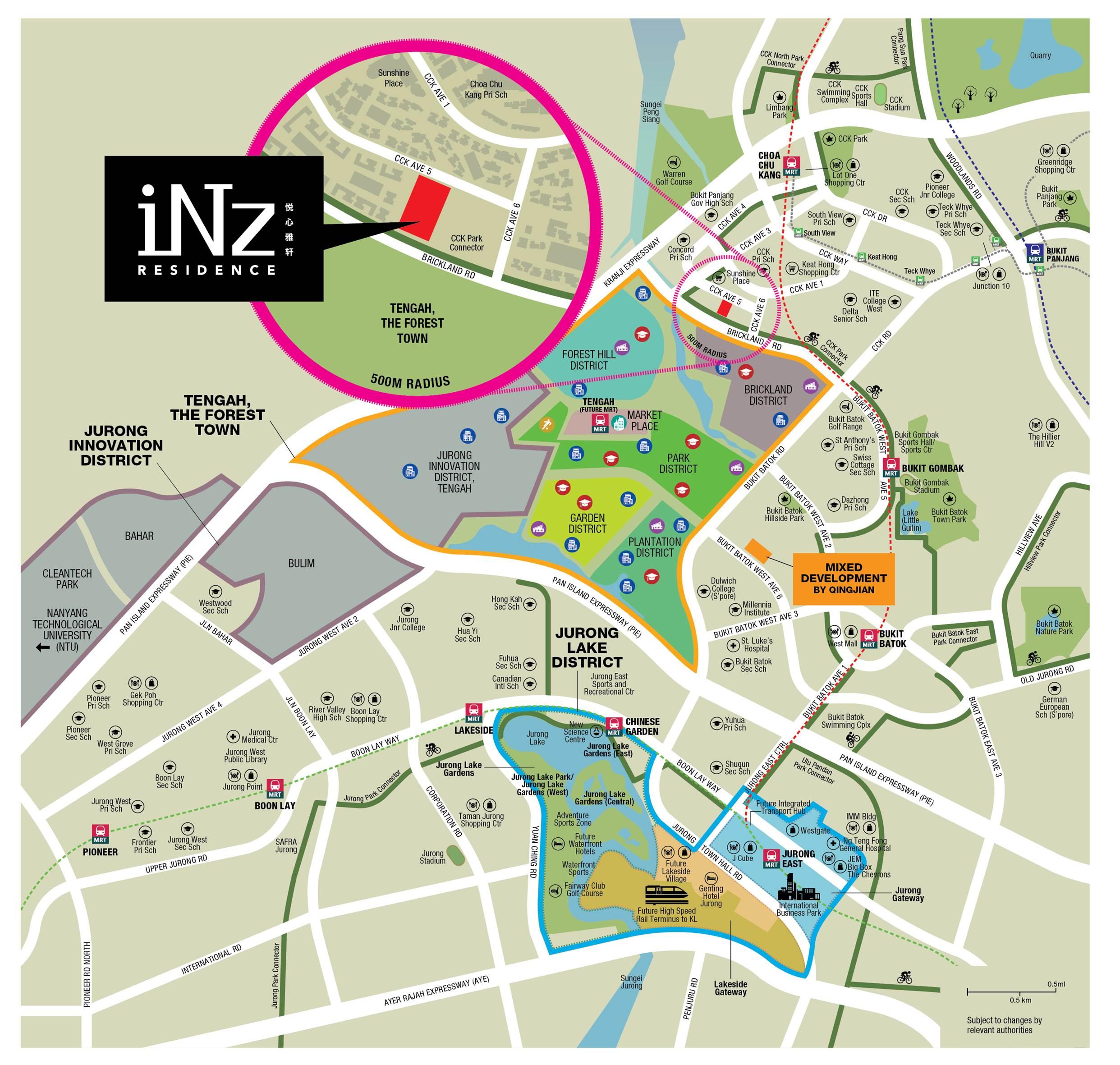 Inz Residence EC Location Plan
