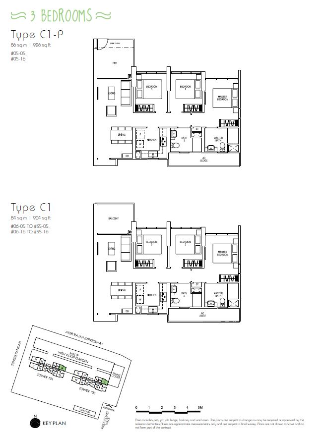 3BR C1P C1_Parc Riviera Floorplan_Terence Low_96411910