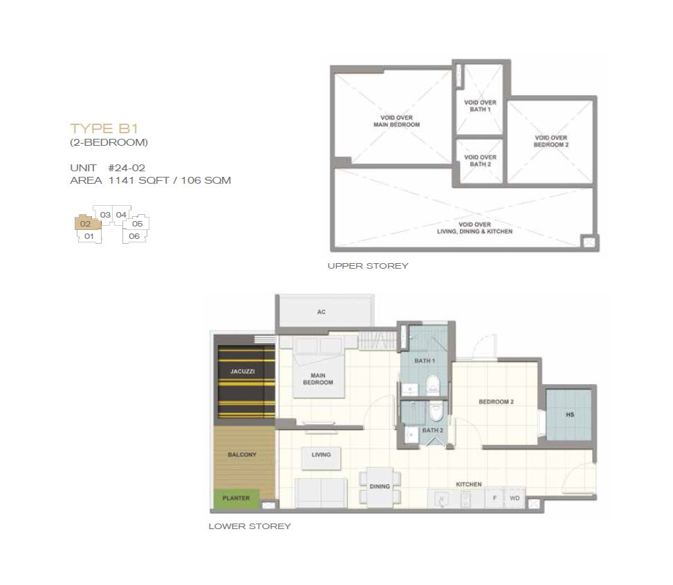Forte Suites Type B1 2BR 1141sf