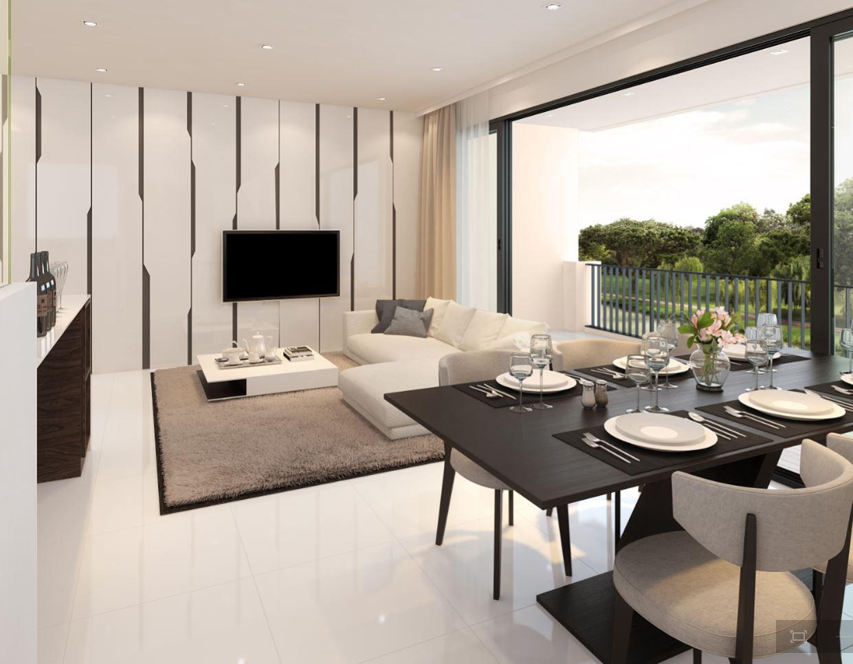 The terrace living dining