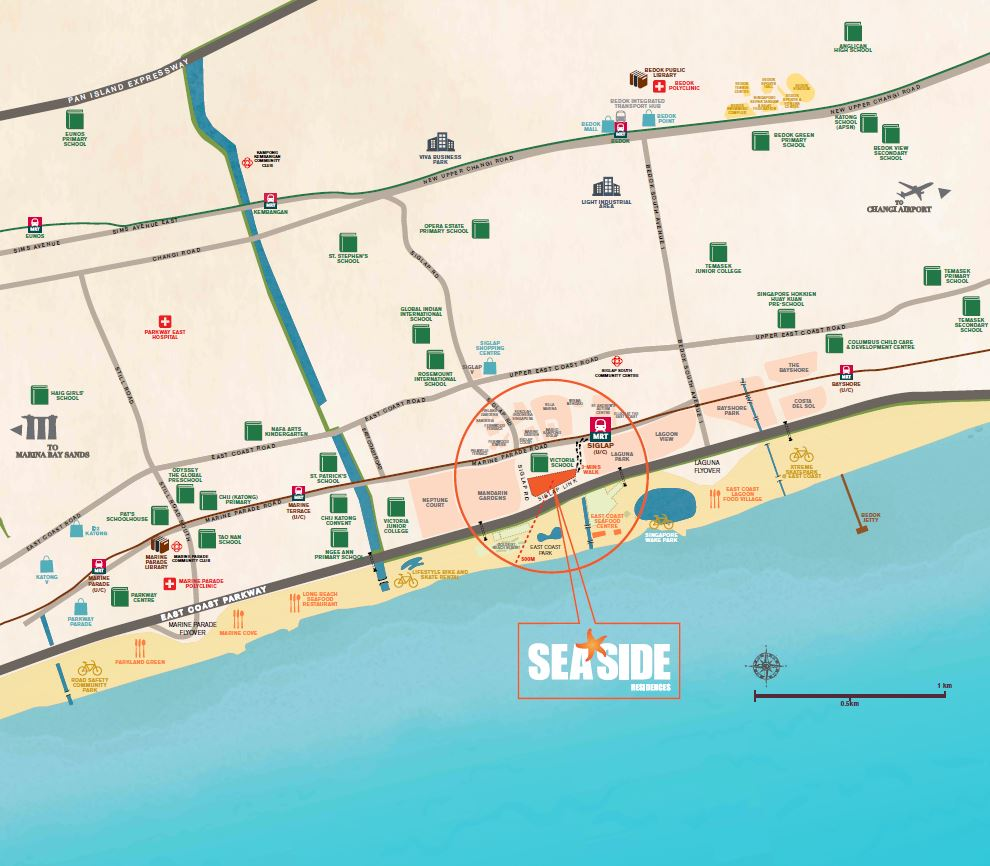 seaside residences location map