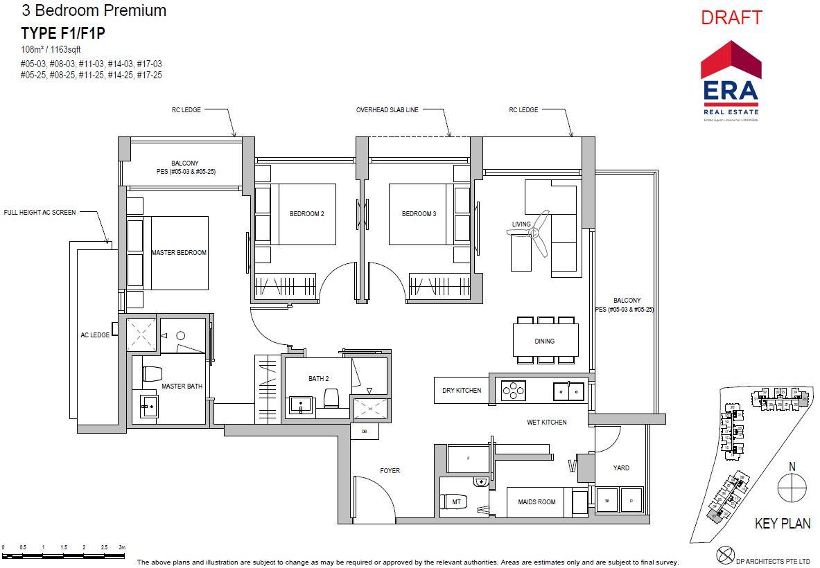 Park Place Residences 3BR Premium F1 1163sqft