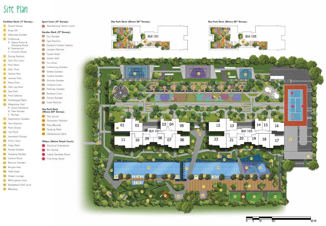 Parc Riviera site map