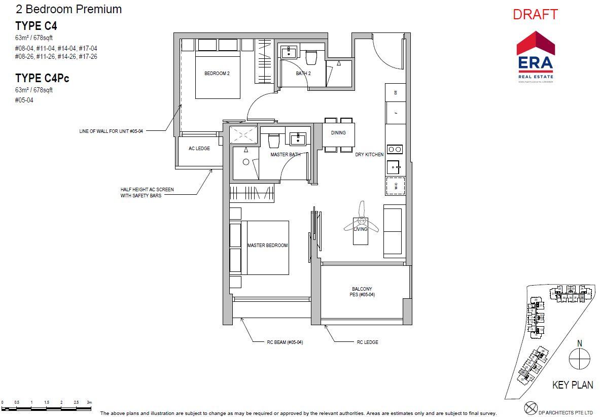 Park Place Residences 2BR Premium C4 678sqft