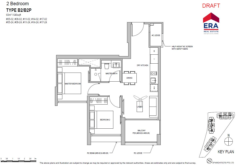 Park Place Residences 2BR B2 646sqft