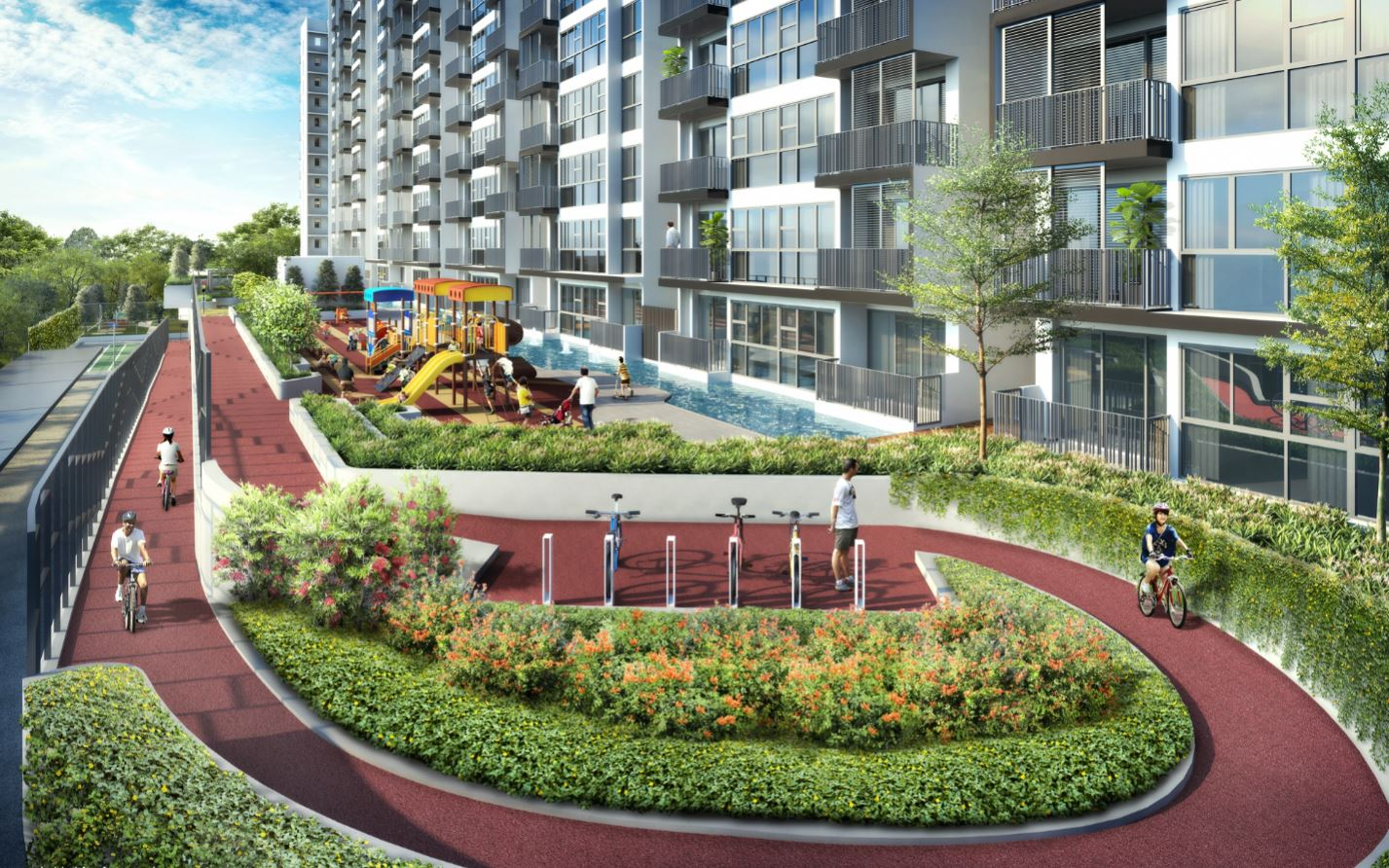 Westwood Residences cycling path