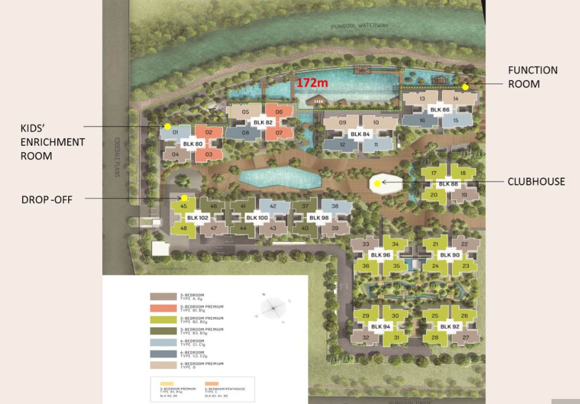 The terrace site map