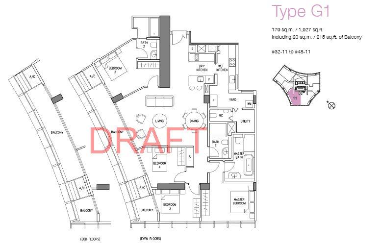 DUO floor plans w watermark_Type G1 (4BR)