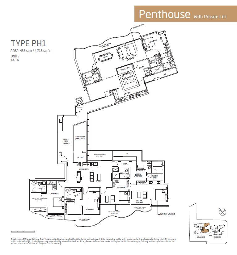 Queens Peak PH1 Floorplan