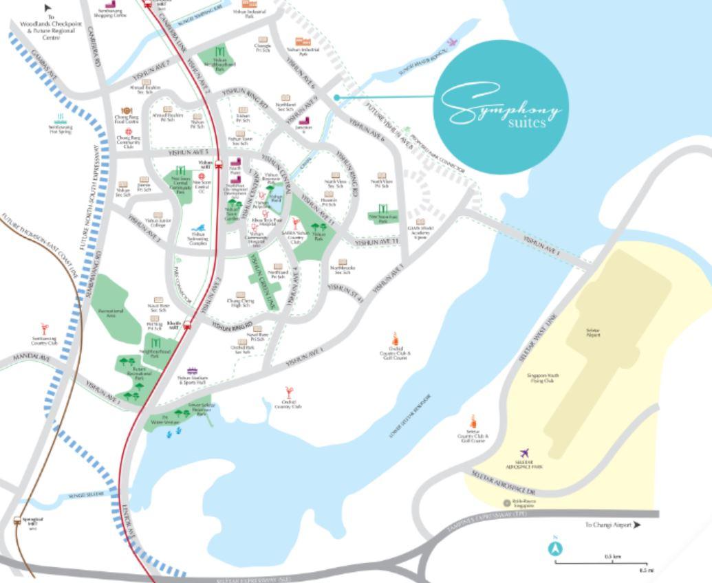 Symphony Suites Location Map