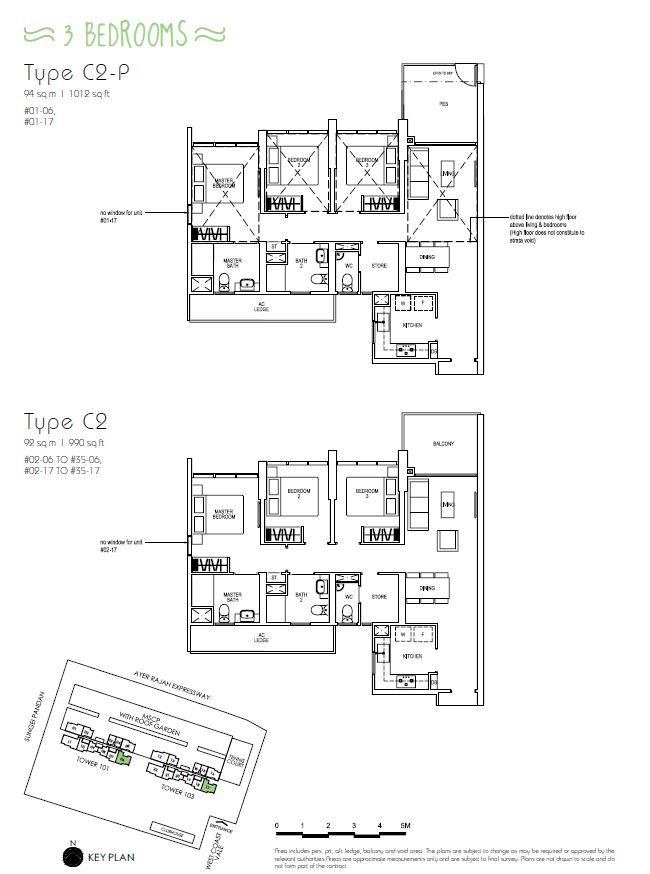 3BR C2P C2_Parc Riviera Floorplan_Terence Low_96411910