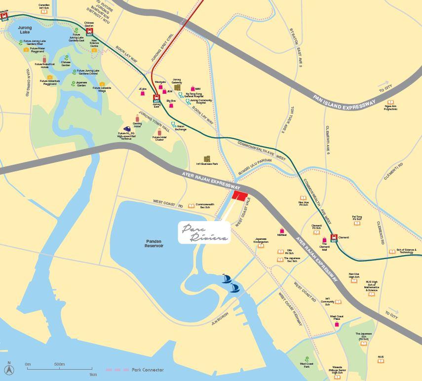 Parc Riviera location map