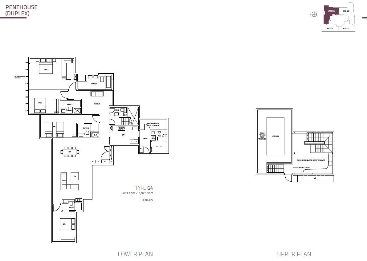 Cairnhill Nine PH Duplex  G4  3025sqft