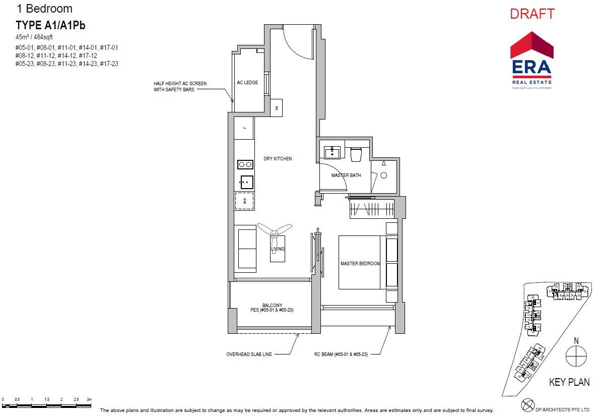 Park Place Residences 1BR A1 484sqft