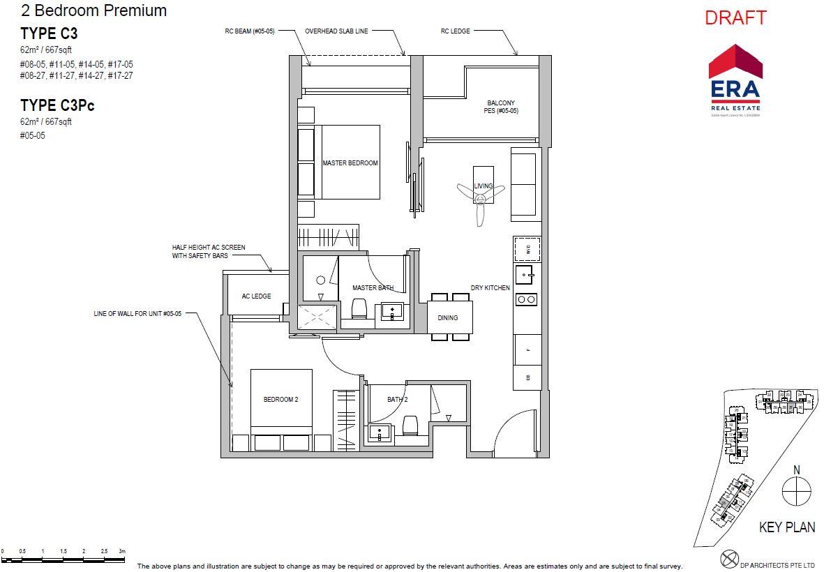 Park Place Residences 2BR Premium C3 667sqft