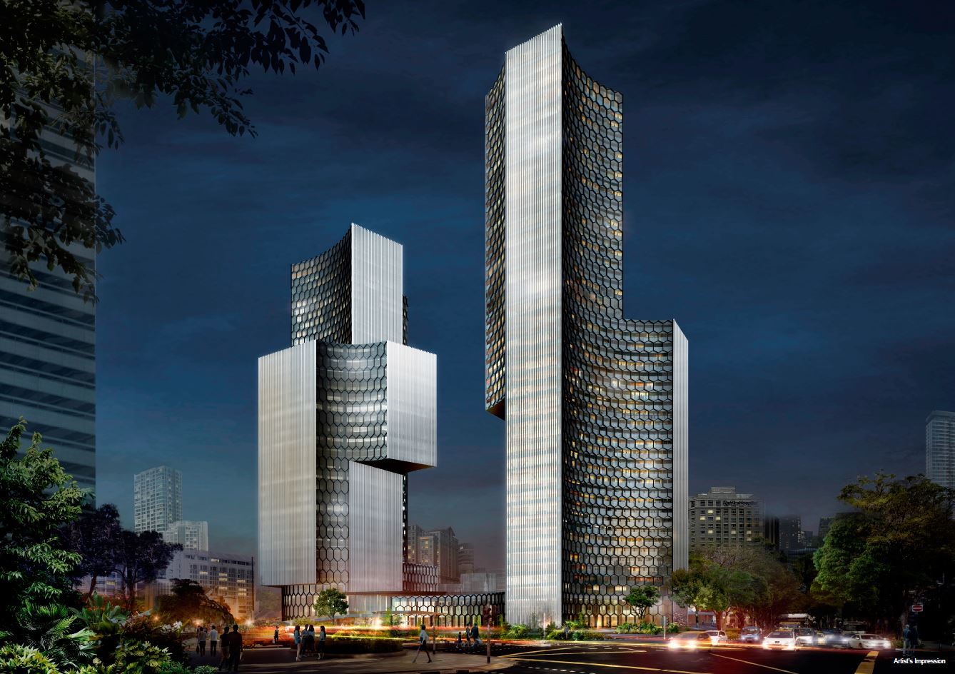 DUO Residences Night Perspective
