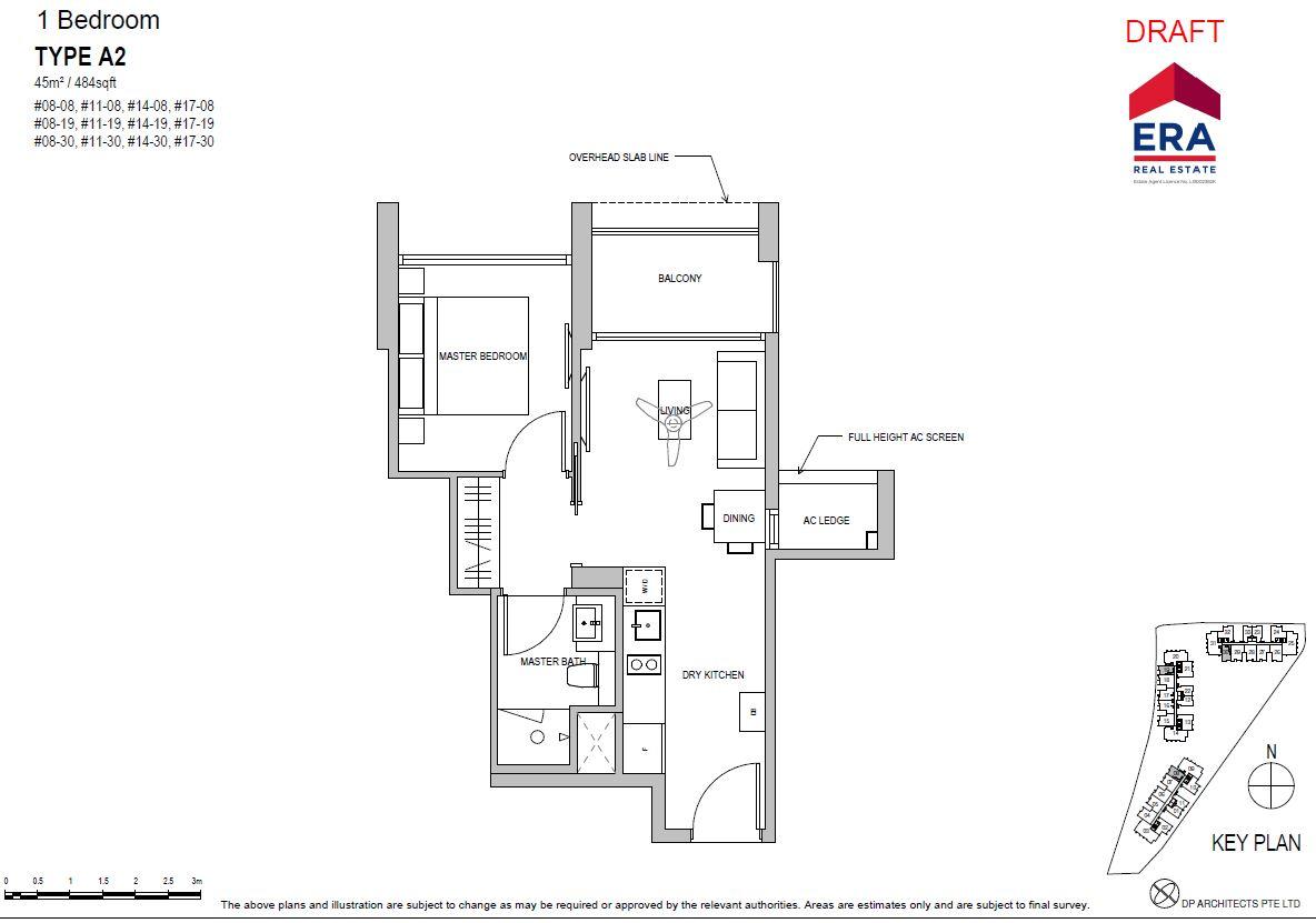 Park Place Residences 1BR A2 484sqft