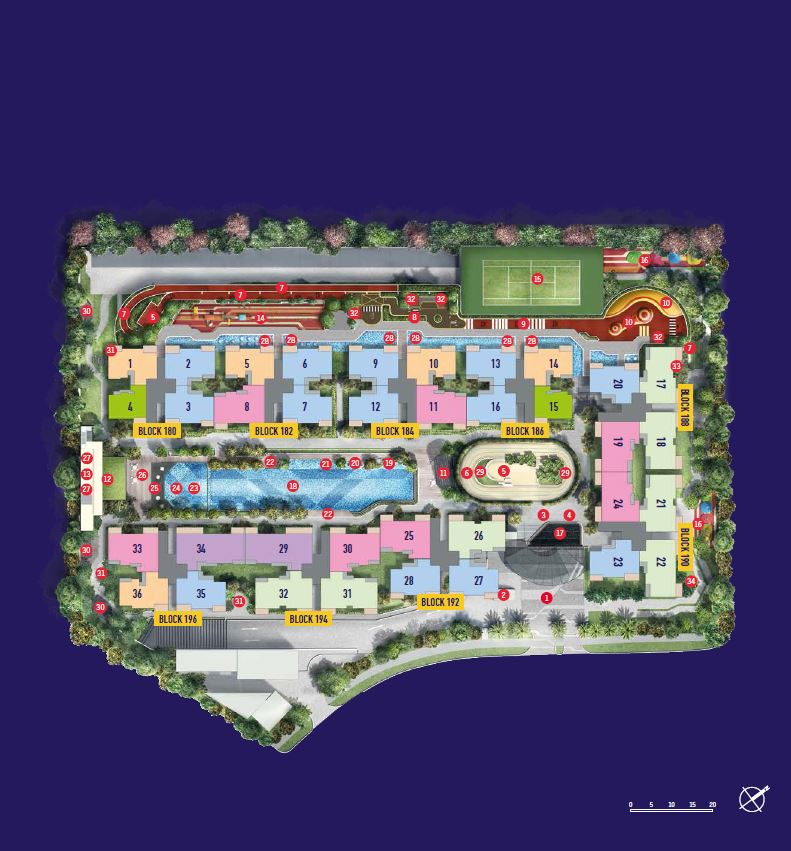 Site Plan with block