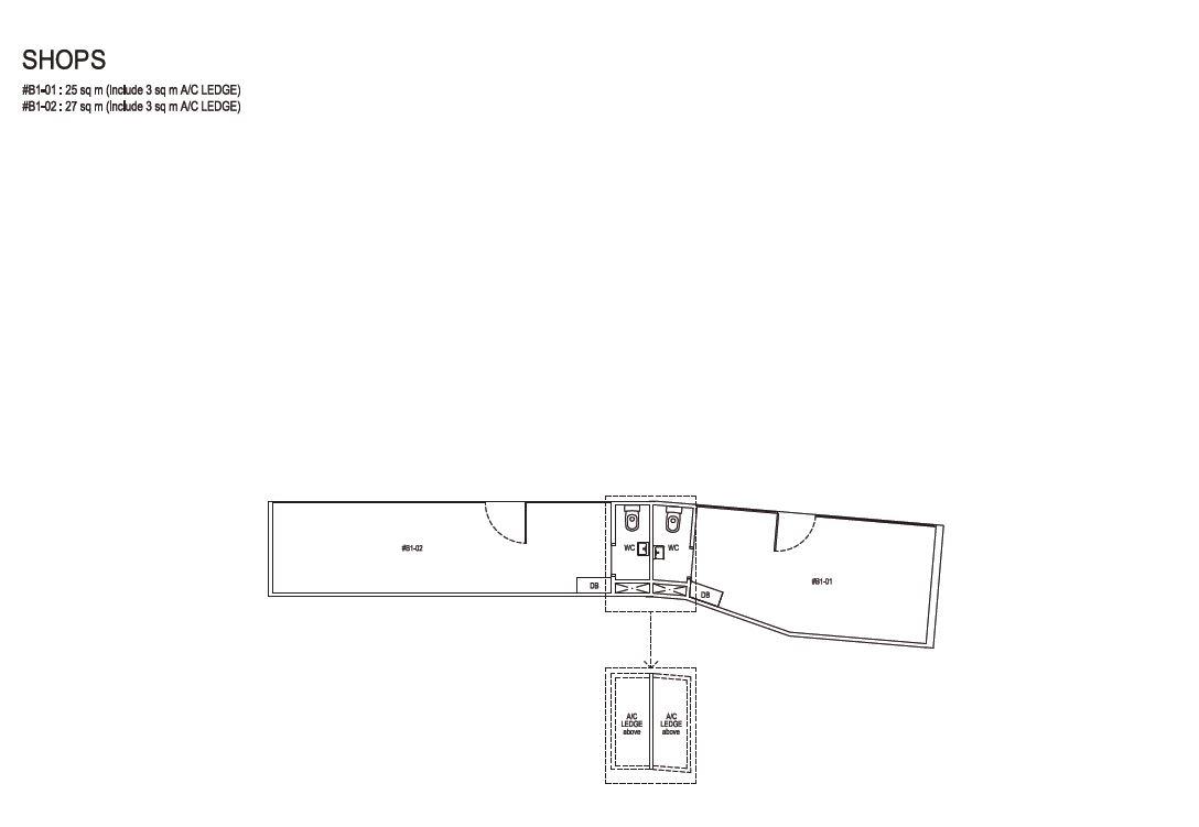 Grandeur Park Residences Floorplan Shops 25sqm 27sqm