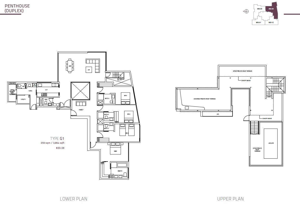 Cairnhill Nine PH Duplex  G1  3864sqft