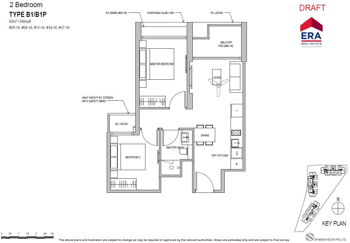 Park Place Residences 2BR B1 646sqft