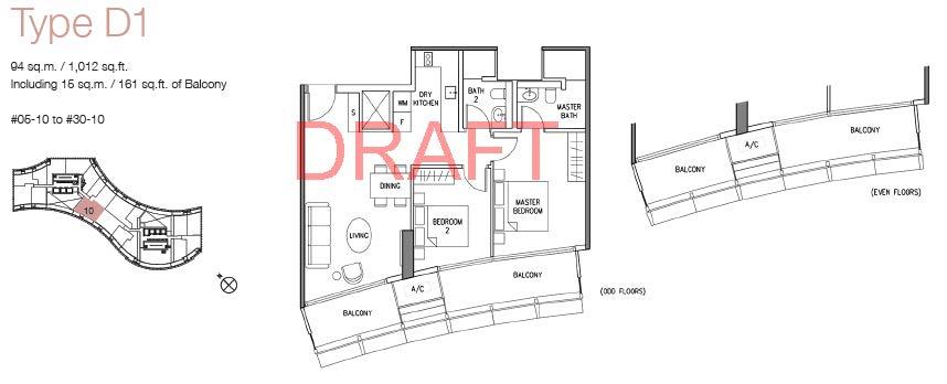 DUO floor plans w watermark_Type D1 (2BR)