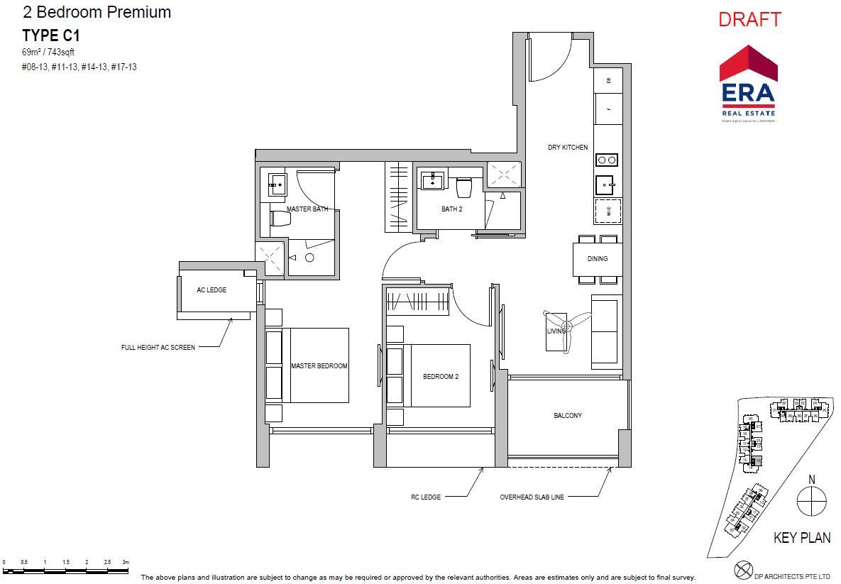 Park Place Residences 2BR Premium C1 743sqft