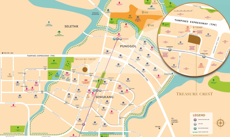 Treasure Crest Location Map