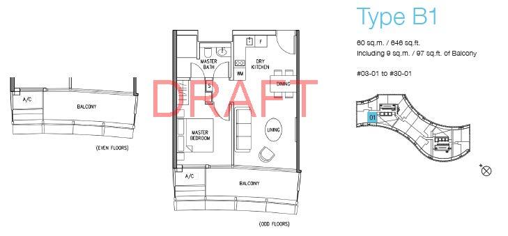 DUO floor plans w watermark_Type B1 (1BR)