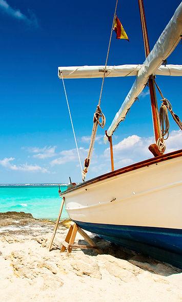 Menorca beach, Spain, Mahon Gin