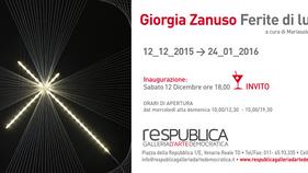 Galleria ResPublica - Ferite di Luce  - Vernissage 12 Dicembre