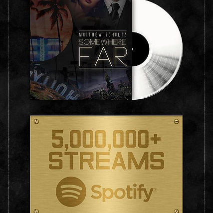 Somewhere Far by Matthew Schultz hits 6 million streams on Spotify!