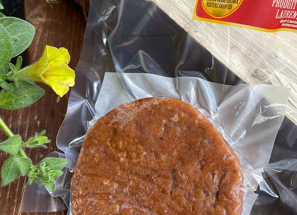 Burgers de poulet de grain aux épices fumées et à l'érable