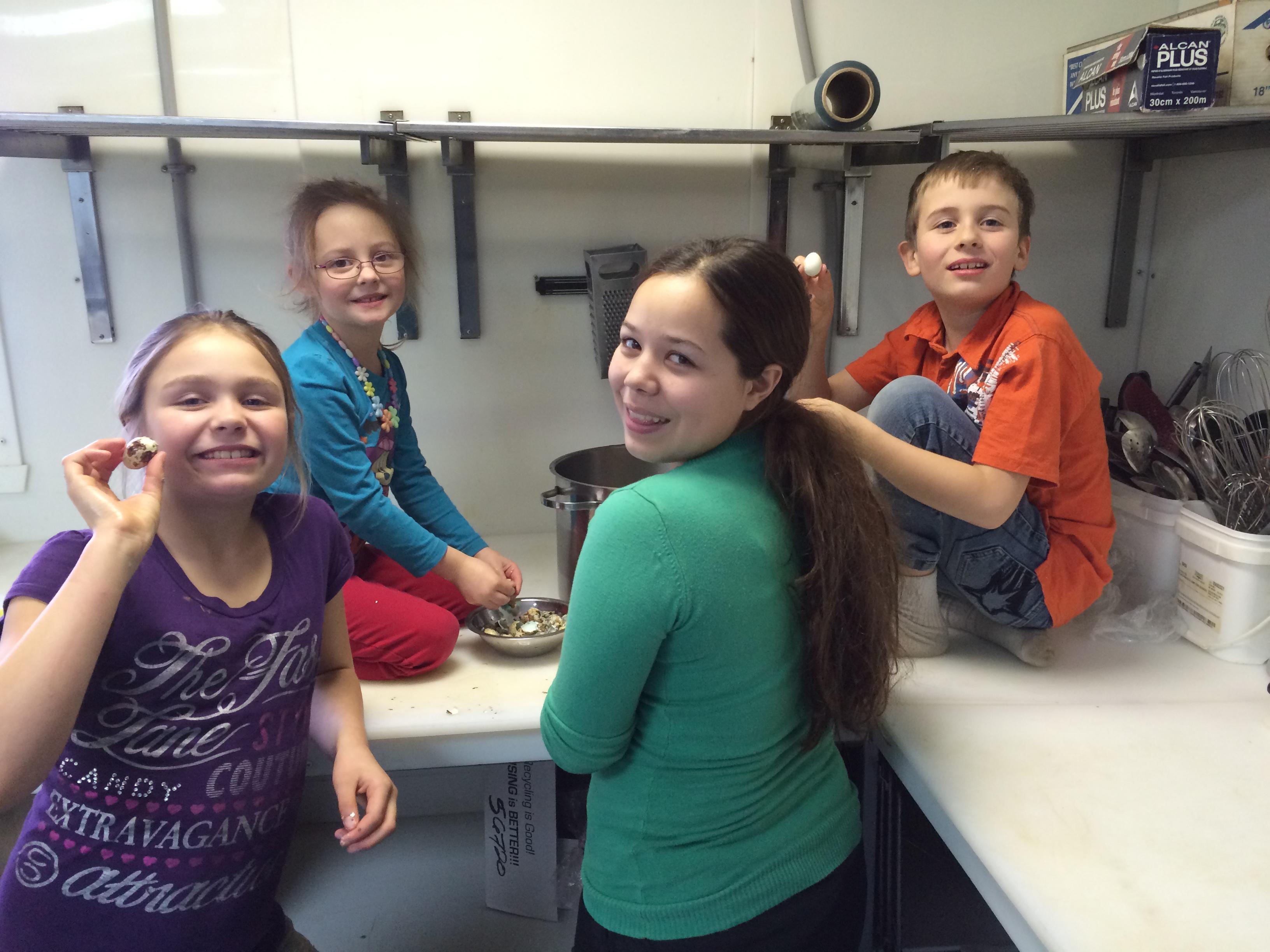 Les enfants cuisinent !