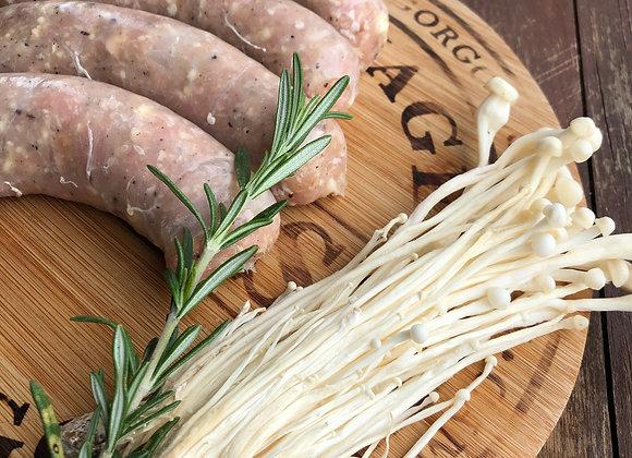 Saucisses bacon & fromage 100 % poulet de grain (BBQ), surgelées