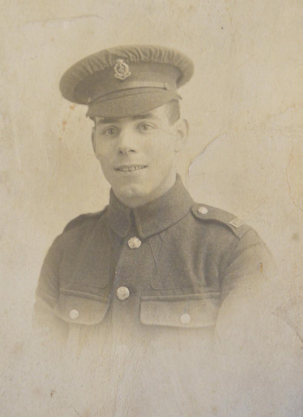 Wilfred Tebbett RAMC soldier