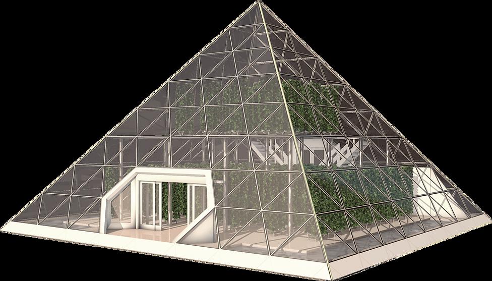 Bio Pyramid housing an aquaponic system
