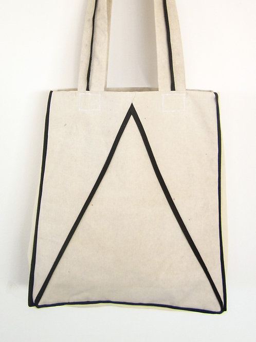 Reusable upcycled shopping tote bag