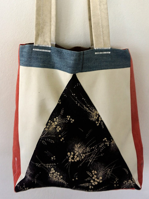 Fabric shoulder shopping tote bag