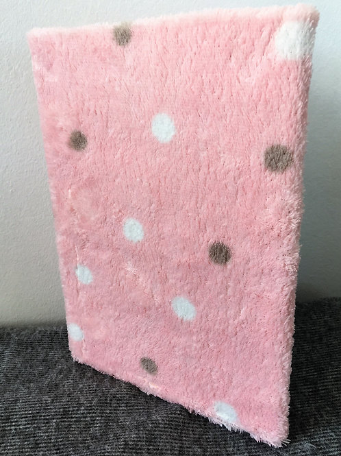 Large Handcrafted Fluffy Pink Notebook