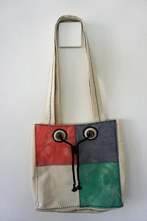 Tie Dye Patchwork Drawstring Bag