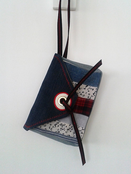 Handmade recycled clutch bag