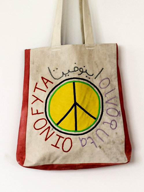Ethical-shopping-tote-bag-peace