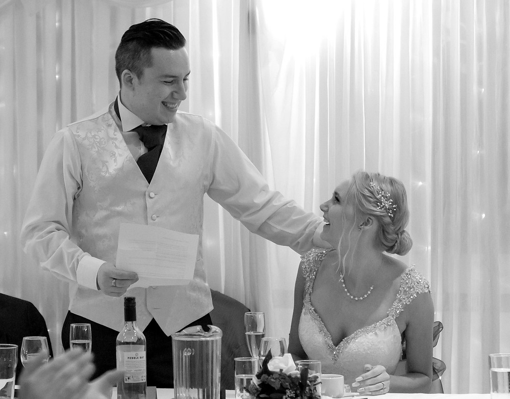 Wedding day emotional speeches by Steve and Tania Photography, Wedding Photographers in West Sussex