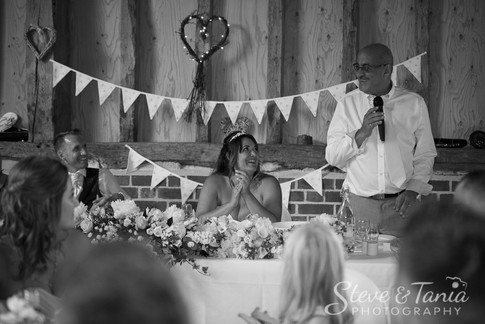 Emotional wedding speeches