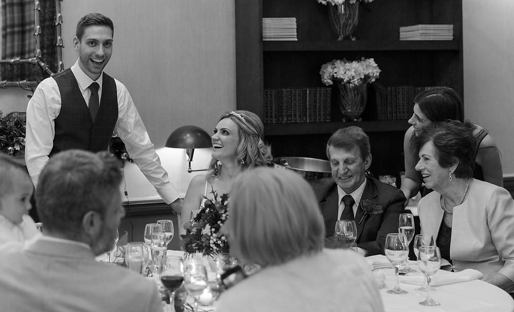 Wedding day emotional speeches