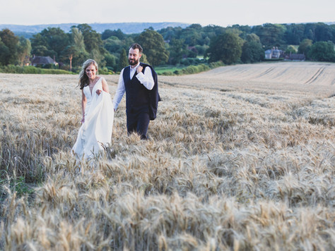 Cara & Ollie's wedding at Fitzleroi Barn, Pullborough