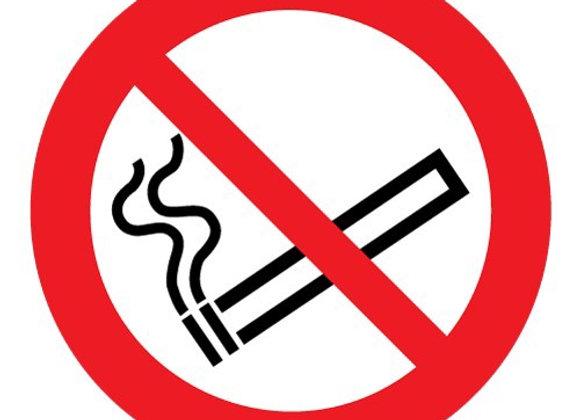 Verboden te roken sticker 10cm doorsnede 10 stuks