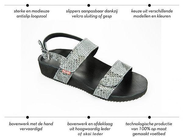 Spring-shoes podologische slippers op maat