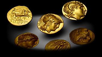 Три золотых статера Филиппа Александра Лисимаха